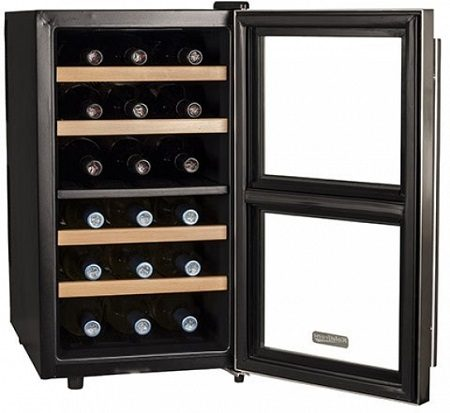 18 Bottle Free Standing Dual Zone Wine Cooler